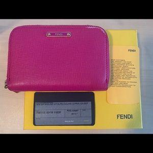 Fendi zip around compact Wallet